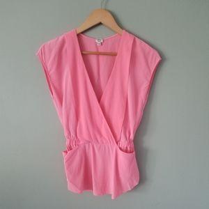 Artizia Wilfred 100% sleeveless pink silk top XXS